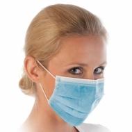 Защитные маски синие 1 штука