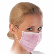 Защитные маски розовые 3-слойные 50 шт