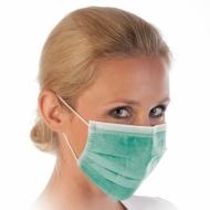 Защитные маски зелёные 50 шт
