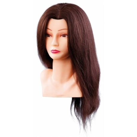Натуральные густые волосы 40 см тёмные