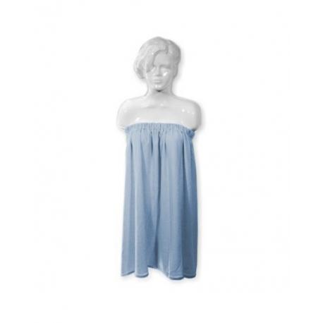 полотенце на резинке голубого цвет