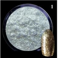 Алмазный порошок глиттер золотой
