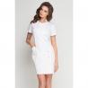 Платье-халат белое
