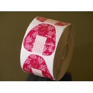 Šabloonid - küünevormid kolmnurk roosa