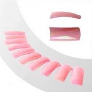 Цветные типсы 100 шт. металлические-розовые