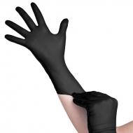 Нитриловые перчатки чёрные без пудры 100 шт.