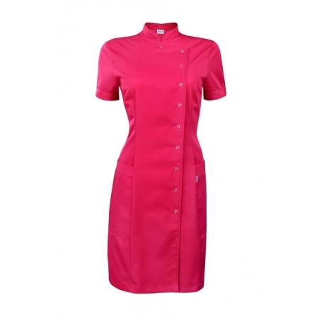 Платье-халат амарант