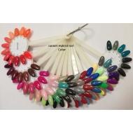 Värvilised geellakid, näidis Jannet Hybrid Gel Color