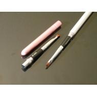 Кисточка для геля nr.6 трансформер розовая