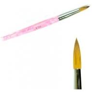 Акриловая кисть розовая размер nr.6