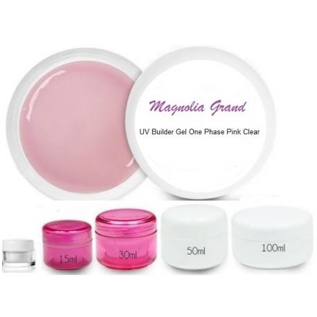 UV gel 1-phasen pink clear ehitusgeel