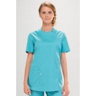 Рабочая женская одежда - медицинская блуза Бирюзовая