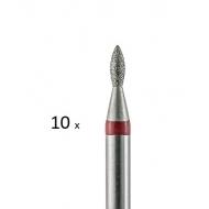 10 tk Teemant frees punane Ø1,6mm 257