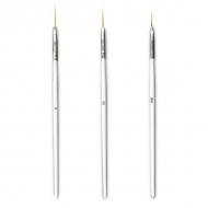 Nail Art brushes 3 pcs White