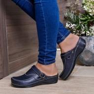 Ортопедическая обувь с ремешком женская синяя