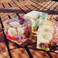 Декоративный куб Одуванчик, ручная работа
