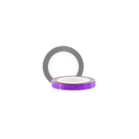 Лента фиолетовая голографическая