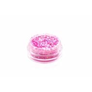 Glitterpulber fluorestsents hologram dark pink