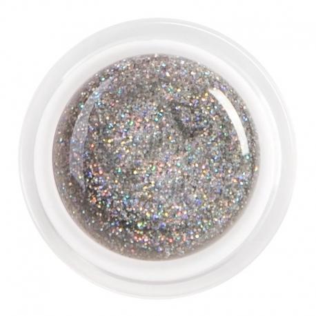 цветной гель glitter silver biger grain nr.86